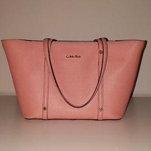 Salmon Pink Calvin Klein Tote Bag